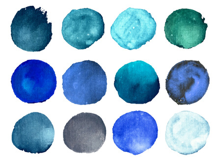 Illustration pour Colorful vector isolated watercolor paint circles - image libre de droit