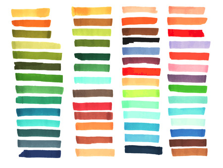 Illustration pour Color stripes drawn with japan markers. Stylish elements for design. Vector marker stroke bright color - image libre de droit