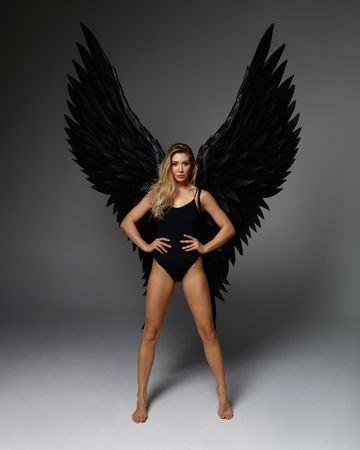 Photo for Angel woman posing - Royalty Free Image