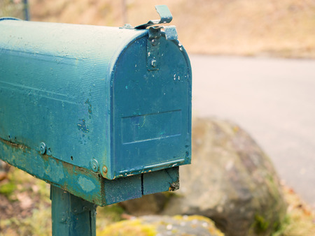 Photo pour American mailbox in blue - image libre de droit