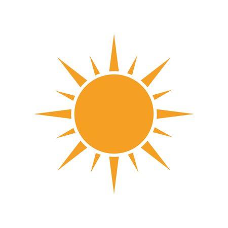 Ilustración de Sun vector icon. Summer sunshine illustration on white isolated background. - Imagen libre de derechos