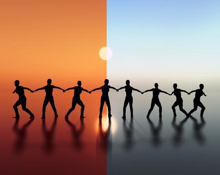 Photo for Team spirit, team work - Royalty Free Image