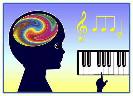 Foto de Music Therapy. Music is helping children to improve Their Physical and Mental Health - Imagen libre de derechos