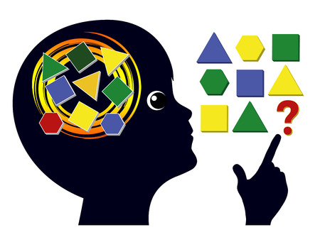 Photo pour Brain Games for Children. Brain training in early childhood education to sharpen the mind - image libre de droit