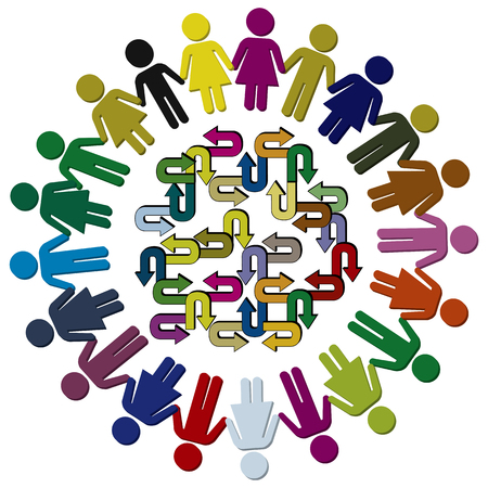 Photo for Cultural diversity of children. Diverse kids demand a multitude of educational approaches at school or kindergarten - Royalty Free Image