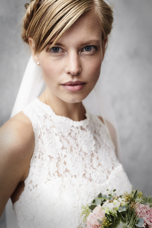 Photo for Stunning bride babe in studio, portrait - Royalty Free Image