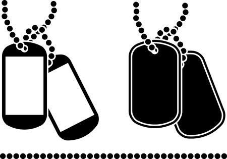 Ilustración de stencils of dog tags  illustration  - Imagen libre de derechos