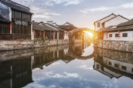 Photo pour Nanxun ancient town, huzhou, zhejiang, China - image libre de droit