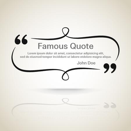 Ilustración de rectangle quote box with your text, quotation marks.  - Imagen libre de derechos