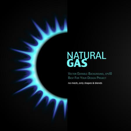Illustration pour Vector Editable Background with gas burner. Eps10 - image libre de droit