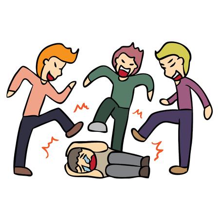 Illustrazione per Vector cartoon high school bully problem - Immagini Royalty Free