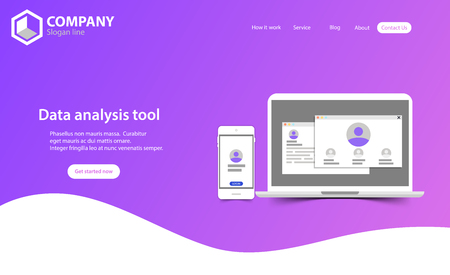 Illustration pour New Trendy Website Landing Page vector theme template design - image libre de droit
