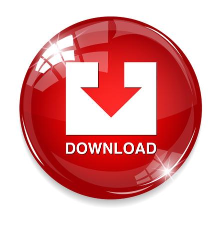 Illustration pour download button - image libre de droit