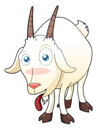 illustration of funny goat