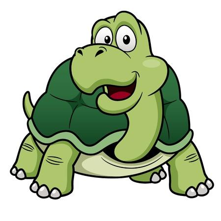 illustration of Cartoon turtle