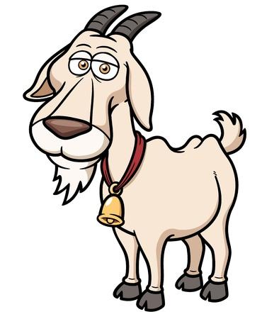 Vector illustration of Goat Cartoon