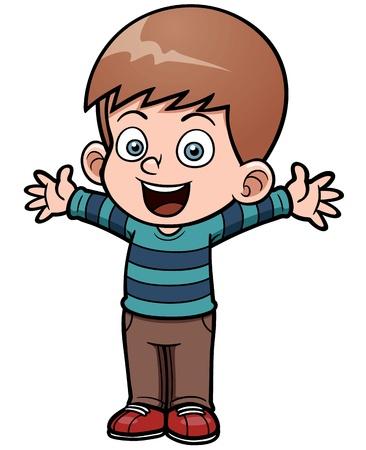 Ilustración de Vector illustration of Happy boy - Imagen libre de derechos