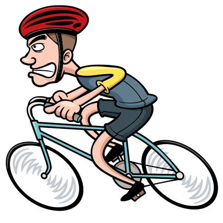 Illustration pour Vector illustration of Cartoon Cyclist - image libre de droit
