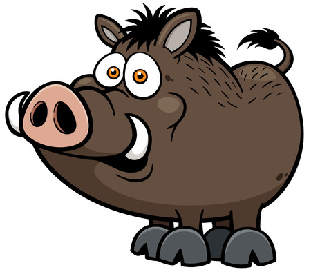 Illustration for illustration of Wild boar - Royalty Free Image