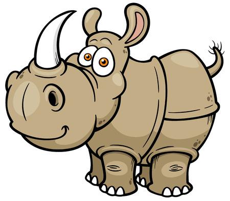 Illustration for illustration of Cartoon rhino - Royalty Free Image