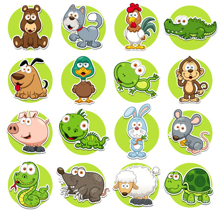Illustration pour Vector illustration of Animals set Cartoon - image libre de droit