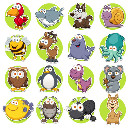 Photo pour Vector illustration of Animals set Cartoon - image libre de droit