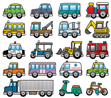 Foto de Vector Illustration of cartoon Car set - Imagen libre de derechos