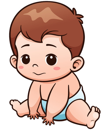 Foto de Vector Illustration of Cartoon Cute Baby - Imagen libre de derechos