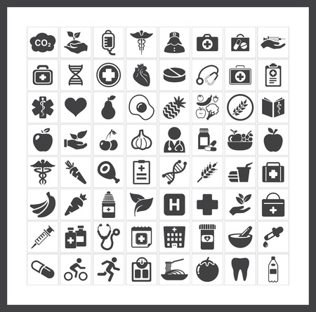 Foto per health icons - Immagine Royalty Free