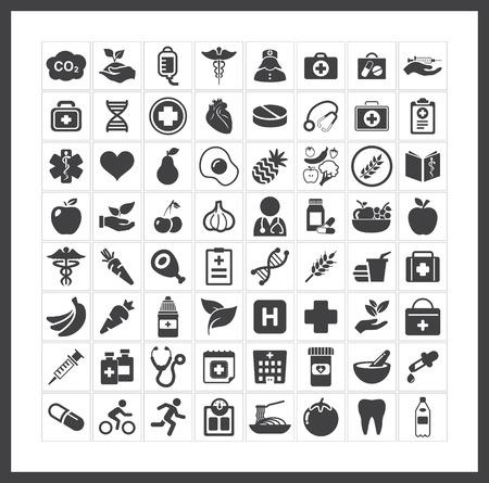 Photo pour health icons - image libre de droit