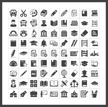 Photo for School icons - Royalty Free Image