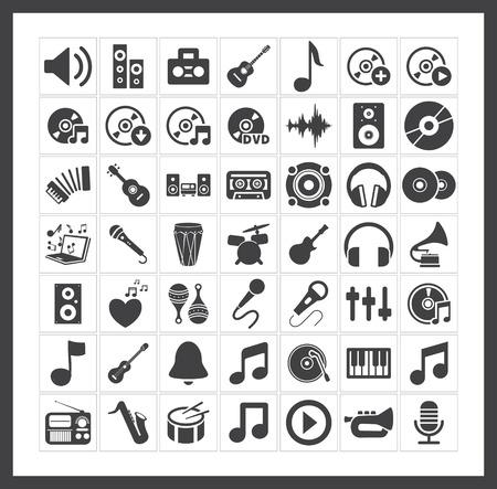 Illustration pour Music icons - image libre de droit