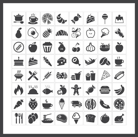 Ilustración de Food icons - Imagen libre de derechos