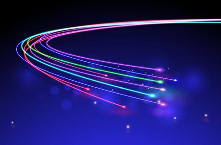 Illustration pour Optical Fibers.vector - image libre de droit