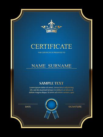 Ilustración de Vector certificate template. - Imagen libre de derechos
