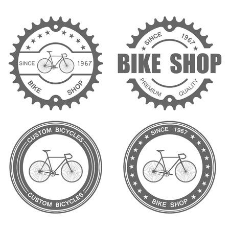 Illustration pour Bicycle Label Set Template.vector - image libre de droit