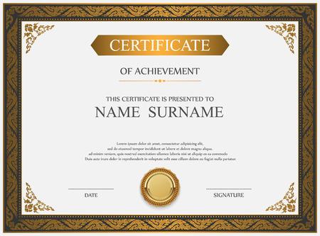 Illustration pour Vector certificate template. - image libre de droit