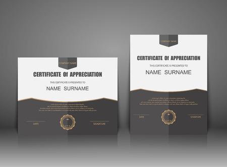 Illustration pour Vector certificate template. - image libre de droit
