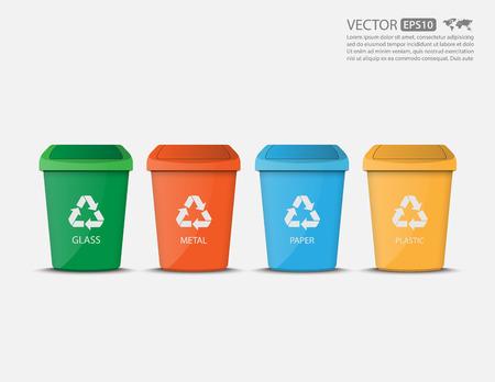 Ilustración de Recycle Binsvector - Imagen libre de derechos