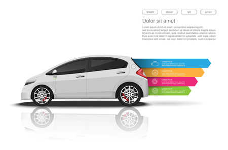 Photo for Car infographics design.vector - Royalty Free Image