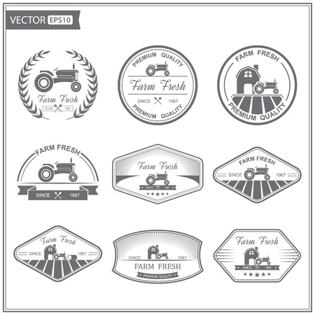 Photo for Set of retro farm fresh labels,vector - Royalty Free Image