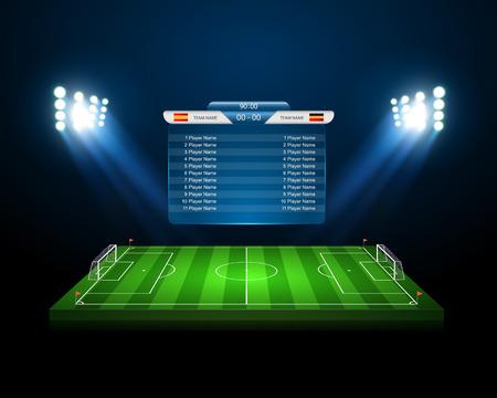 Illustration pour Soccer field  - image libre de droit