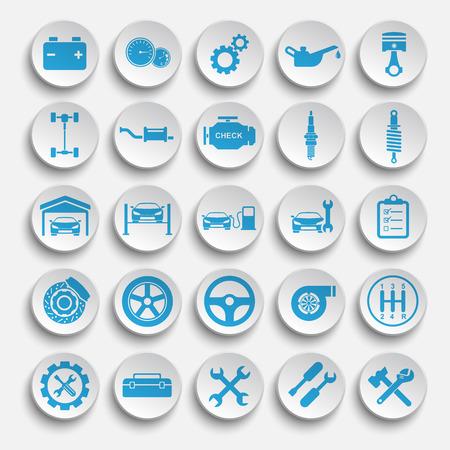 Illustration pour Auto repair Icons - image libre de droit