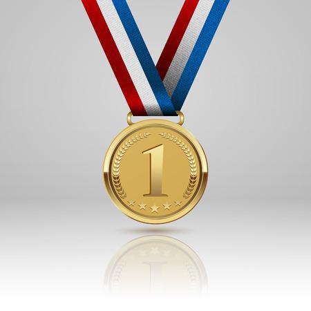 Illustration for Medal winner - Royalty Free Image