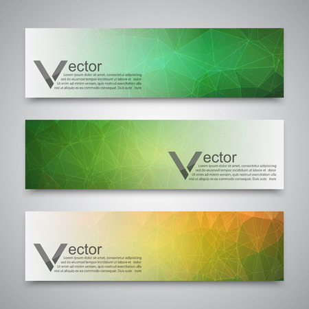 Illustration pour Abstract banner with polygon background, banner vector - image libre de droit