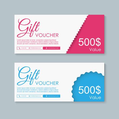 Illustration pour Voucher, Gift certificate, Coupon template. - image libre de droit