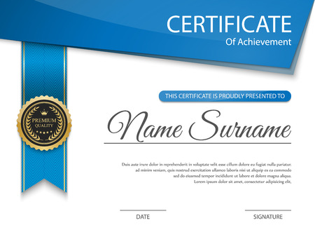Illustration for Vector certificate template. - Royalty Free Image