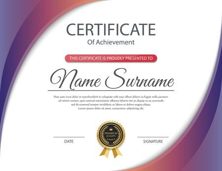 Ilustración de Certificate template, vector - Imagen libre de derechos