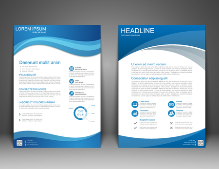 Illustration pour Brochure Flyer design Layout template, size A4, Vector - image libre de droit