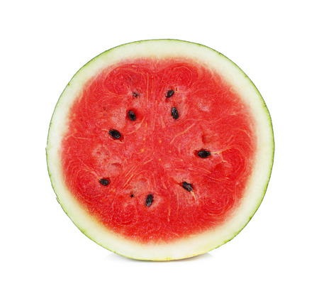 Photo pour half of watermelon isolated on white background. - image libre de droit
